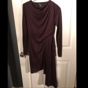 Sexy long sleeve draped dress